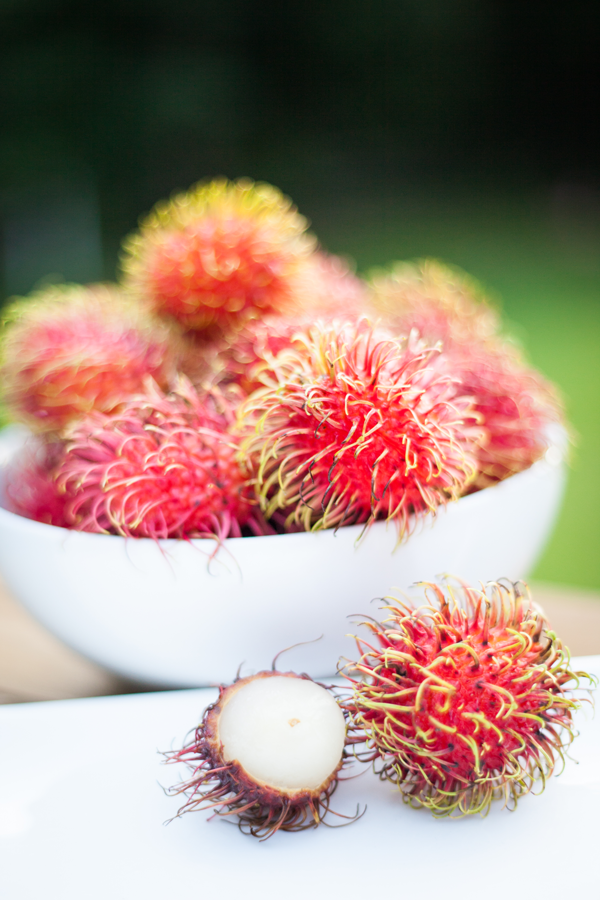 Rambutan Fruit in a Bowl